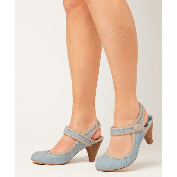 Chaussures demi-talon poivrier bleu Joe Browns
