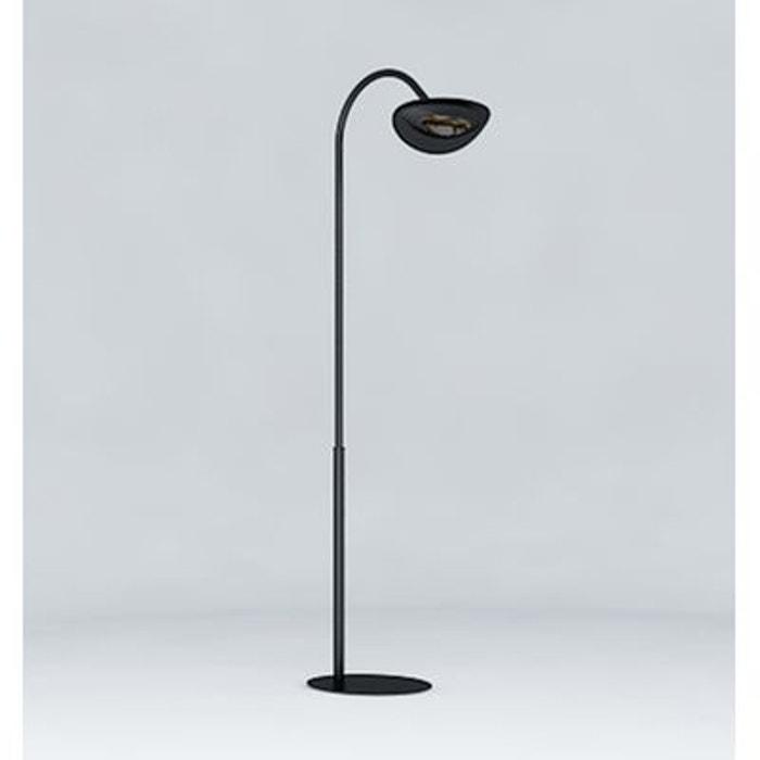 Hotdoor lampadaire d 39 ext rieur chauffant noir noir h249cm luminaire d - Lampadaire chauffant terrasse ...