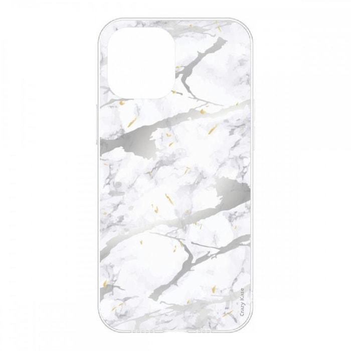 Coque pour iPhone 12 Mini (5,4) souple effet Marbre gris
