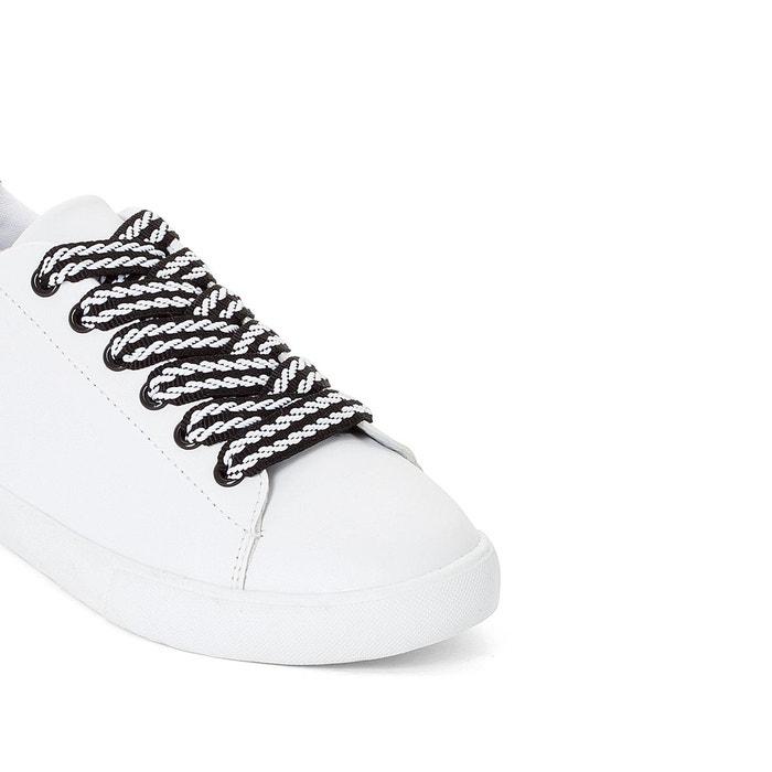 Baskets lacets fantaisies blanc La Redoute Collections