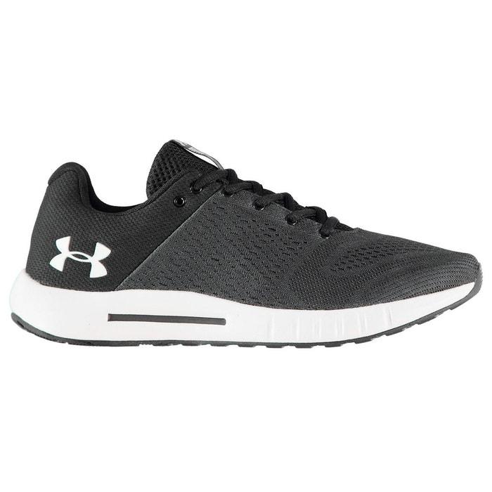 Baskets de course à pied légères gris/noir - blanc Under Armour