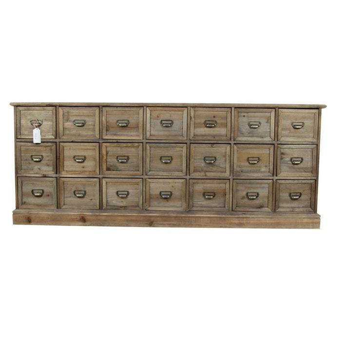 Meuble semainier chiffonnier grainetier bois 21 tiroirs for Autrefois decoration