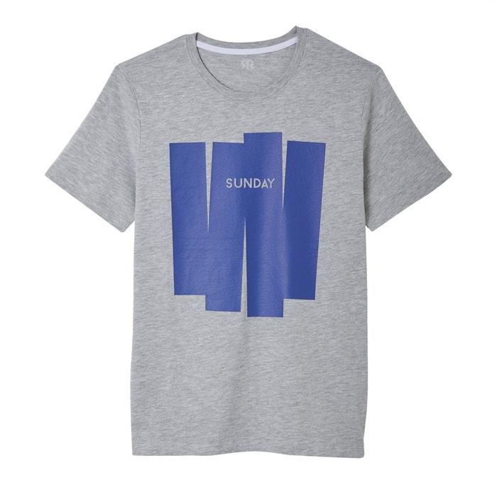 Camiseta de cuello redondo con motivo delante  La Redoute Collections image 0