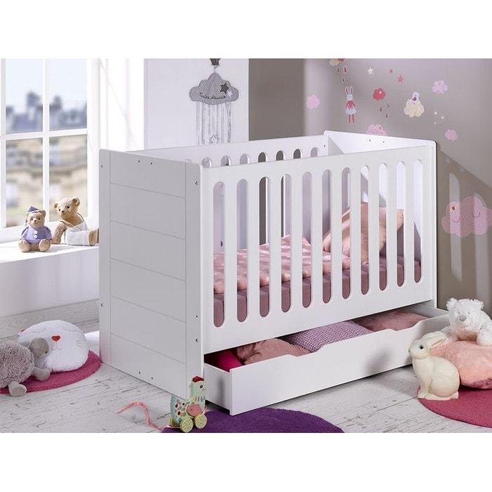 Lit bebe evolutif camille 70x140 blanc blanc alfred et compagnie la redoute - La redoute chambre bebe ...