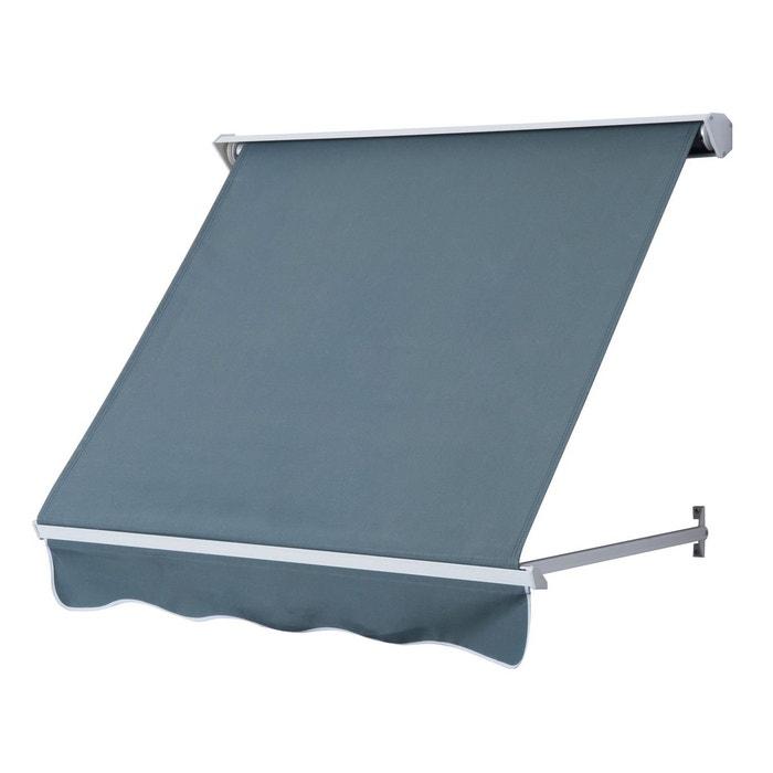 store banne manuel 70l x 122l cm gris gris outsunny la redoute. Black Bedroom Furniture Sets. Home Design Ideas