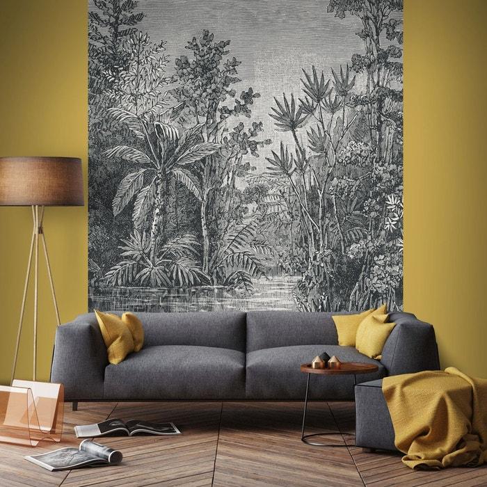Graham & brown papier peint panoramique intissé jungle gris 200 x