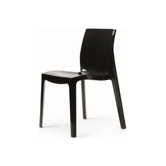 chaise design anthracite laqu lady gris declikdeco la. Black Bedroom Furniture Sets. Home Design Ideas
