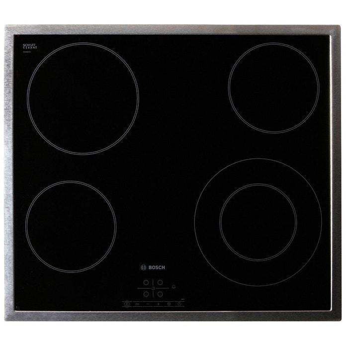 Table vitroc ramique bosch pkf645b17e noir bosch la redoute - Table de cuisson vitroceramique bosch ...