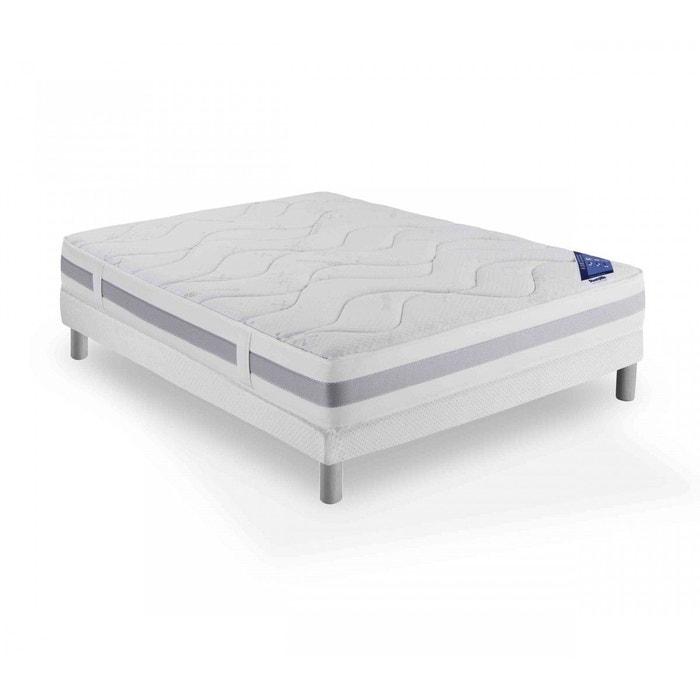 ensemble dunlopillo couchage latex connecting 3 sommier pieds blanc dunlopillo la redoute. Black Bedroom Furniture Sets. Home Design Ideas