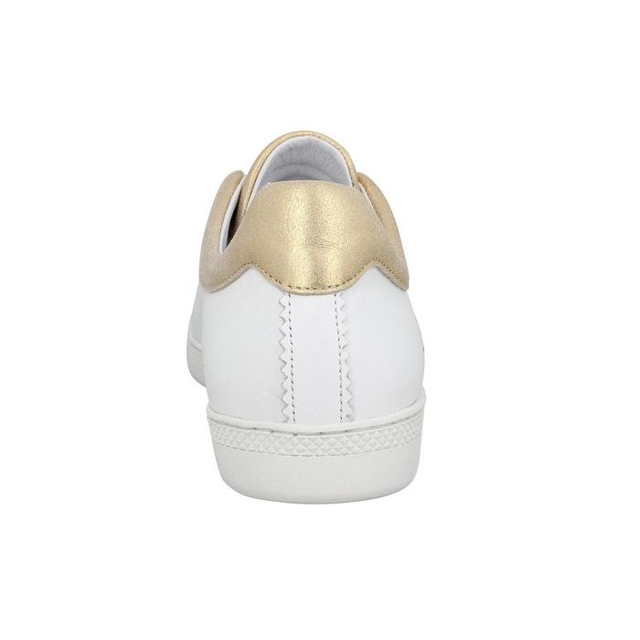 Baskets femme schmoove sally love cuir femme blanc or blanc/or Schmoove