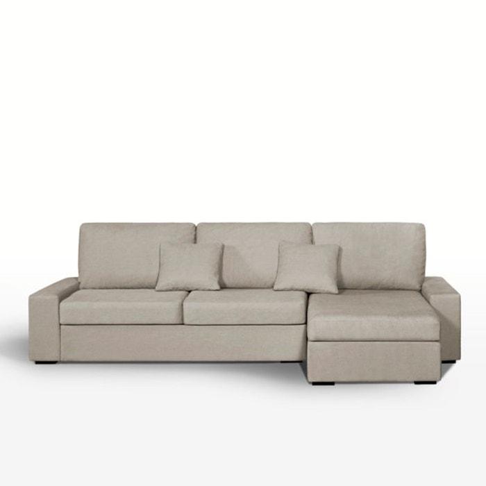 Image Canapé d'angle lit, couchage express, tissé coton, Java La Redoute Interieurs