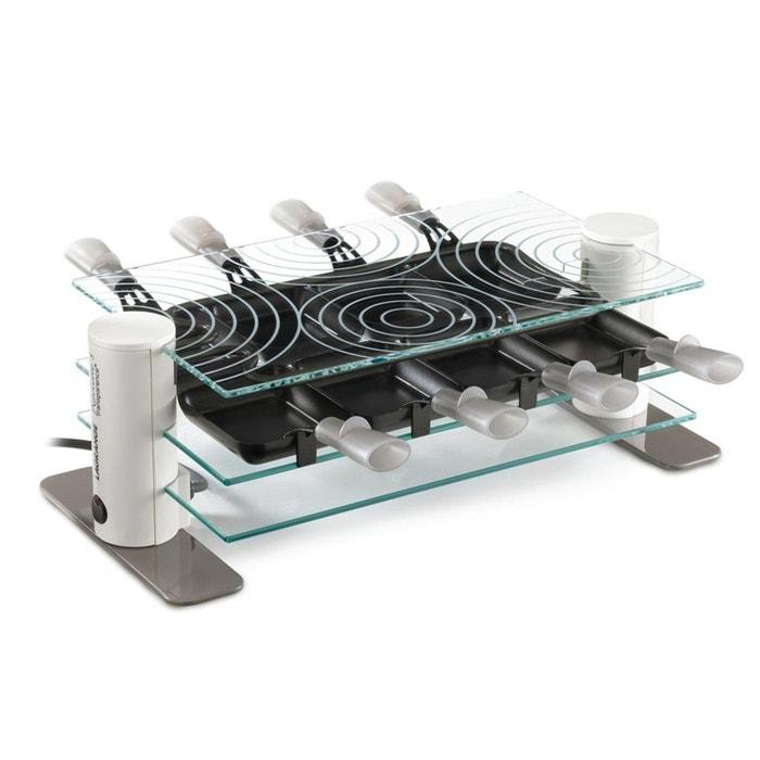 raclette 8 transparence pour 8 personnes 9804v transparent lagrange la redoute. Black Bedroom Furniture Sets. Home Design Ideas