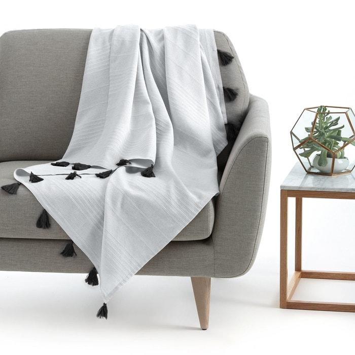 plaid pompons riad la redoute interieurs la redoute. Black Bedroom Furniture Sets. Home Design Ideas