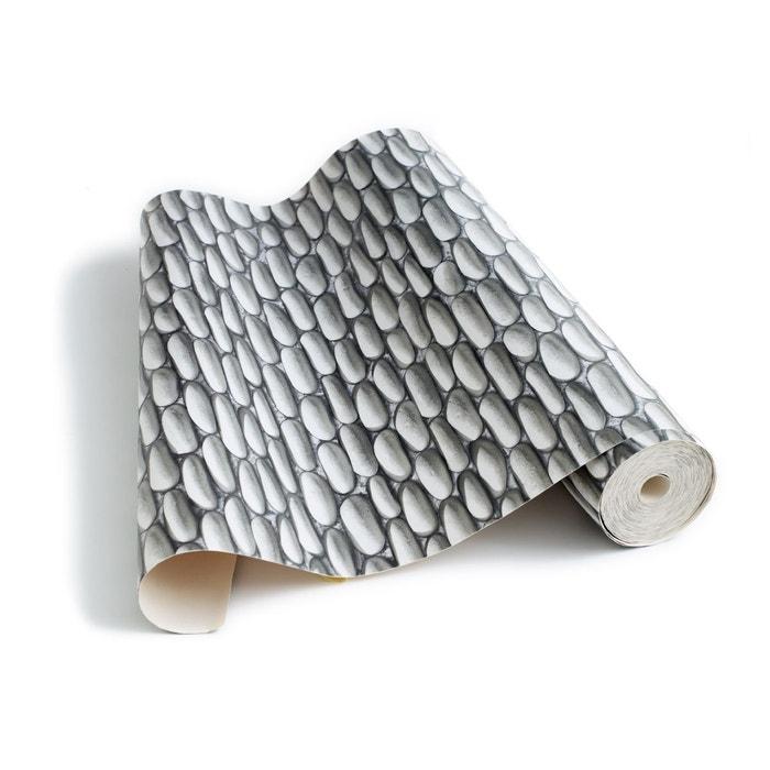 papier peint mur de galets gris koziel la redoute. Black Bedroom Furniture Sets. Home Design Ideas