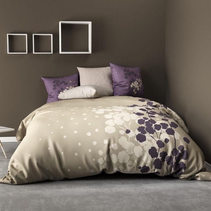 parure de lit 4 pi ces cocon prune 100 coton 57 fils 2. Black Bedroom Furniture Sets. Home Design Ideas