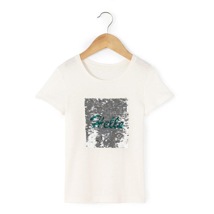 Image T-shirt avec sequins magiques 3-12 ans La Redoute Collections