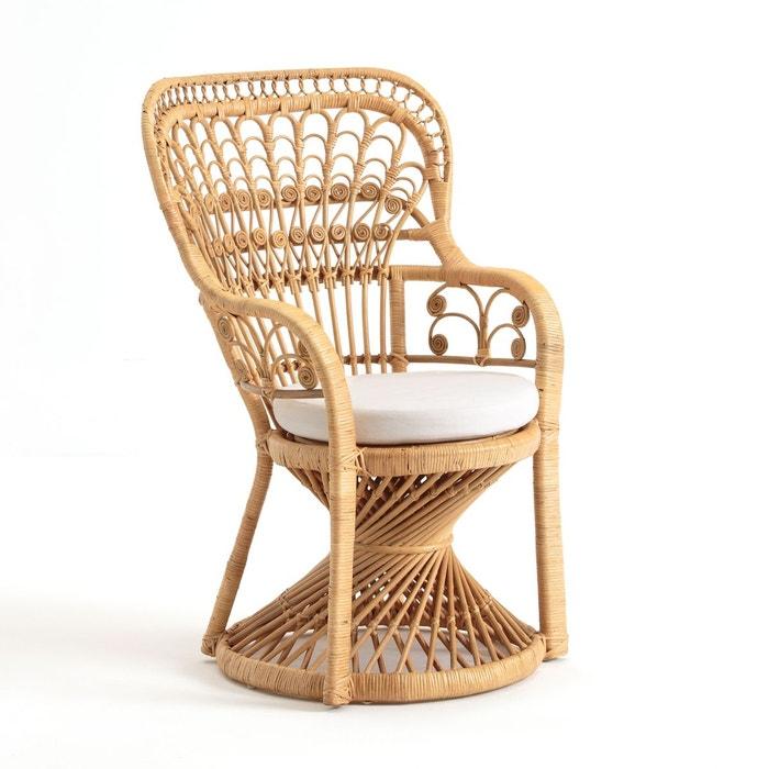 fauteuil en canne de rotin tress malu naturel la redoute interieurs la redoute. Black Bedroom Furniture Sets. Home Design Ideas