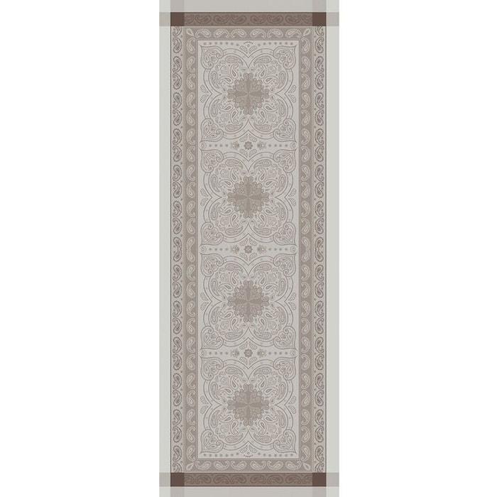 chemin de table pashmina marron glace beige brun garnier thiebaut la redoute. Black Bedroom Furniture Sets. Home Design Ideas