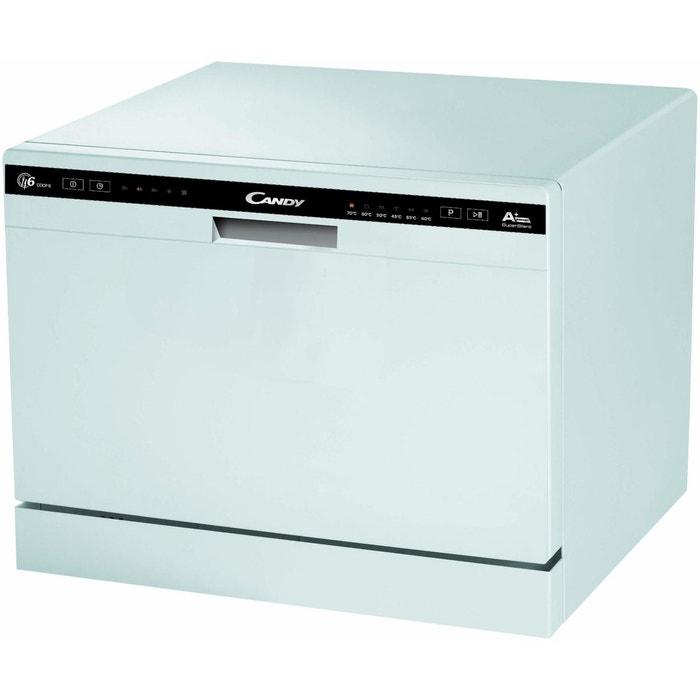 lave vaisselle 45 cm cdcp 6 e blanc candy la redoute. Black Bedroom Furniture Sets. Home Design Ideas