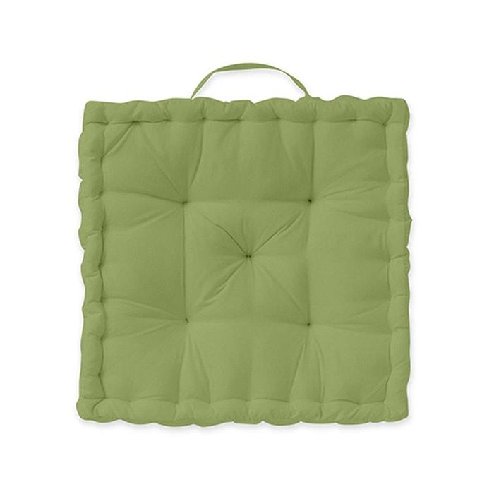 coussin de sol 40x40x12 bien etre coton tiss teint today la redoute. Black Bedroom Furniture Sets. Home Design Ideas