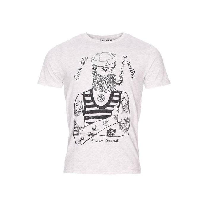The fresh brand tee shirt gris fresh brand la redoute for Fresh brand t shirts