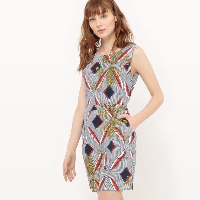 Short Sleeveless Tribal Print Dress  SUNCOO image 0