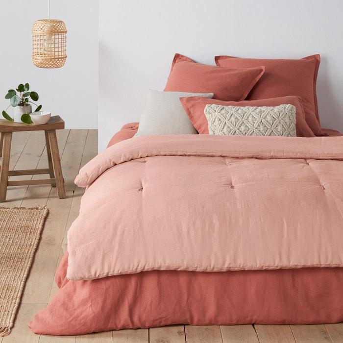 edredon linho lavado abella la redoute interieurs la. Black Bedroom Furniture Sets. Home Design Ideas