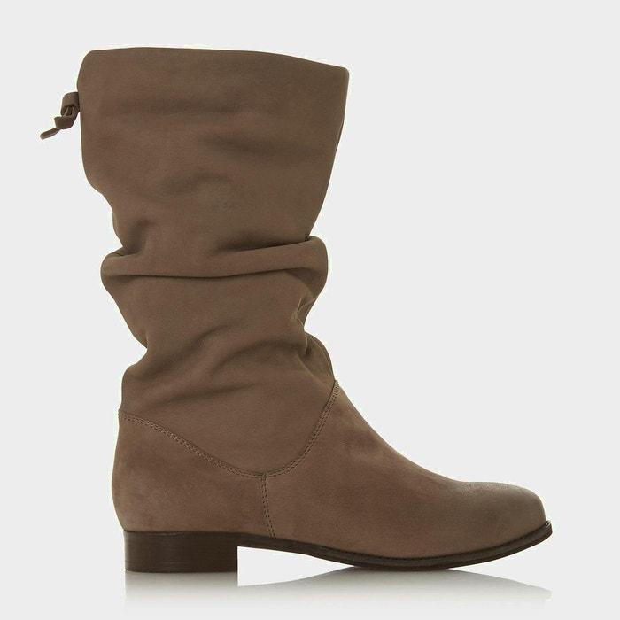 f92b06756f8e27 Bottes mi-mollet froncées à enfiler pour pieds larges - wf rosalindd Dune  London | La Redoute
