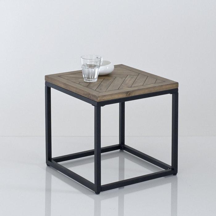 Bout de canapé métal et bois, H40 cm, Nottingham La Redoute Interieurs
