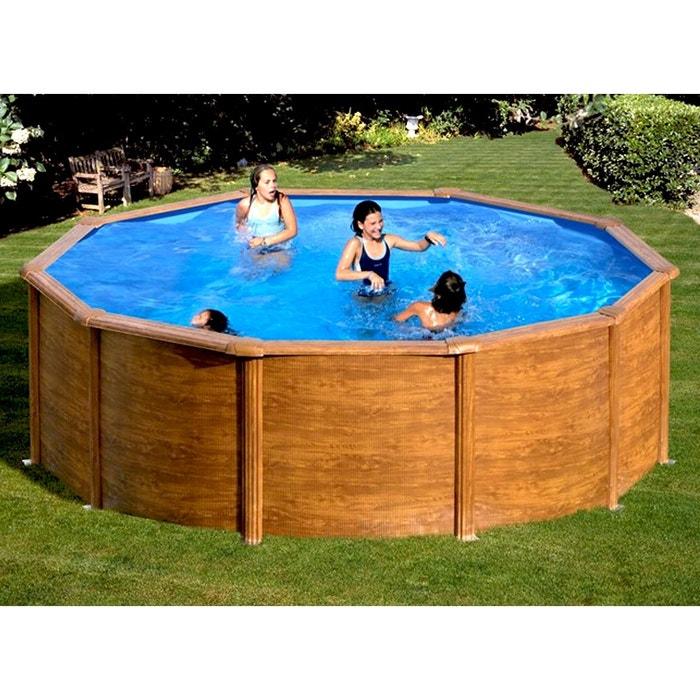 piscine acier aspect bois sicilia ronde 4 60 x 1 20 m gr gre la redoute. Black Bedroom Furniture Sets. Home Design Ideas
