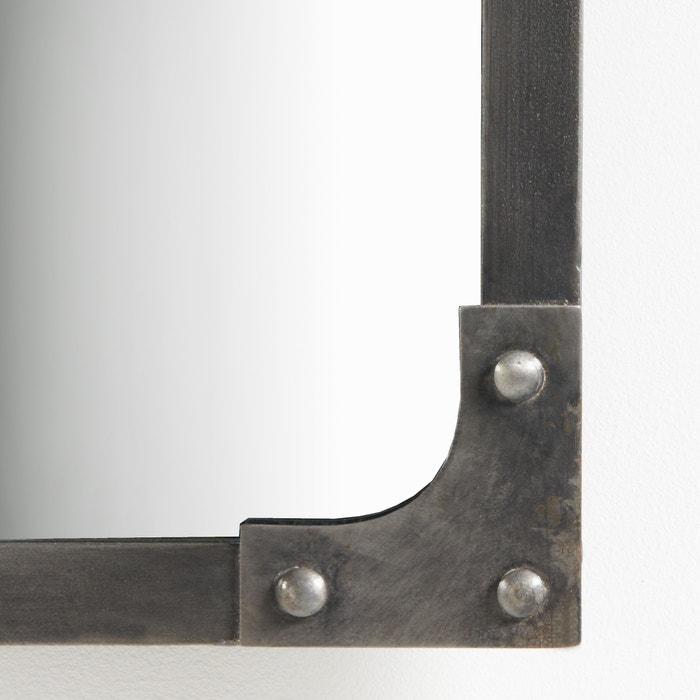 espejo industrial lenaig metal cepillado la redoute interieurs la redoute. Black Bedroom Furniture Sets. Home Design Ideas