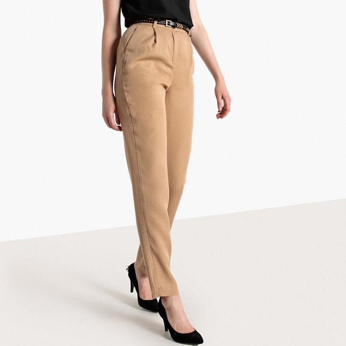 Pantaloni vita alta, lyocell  La Redoute Collections image 0