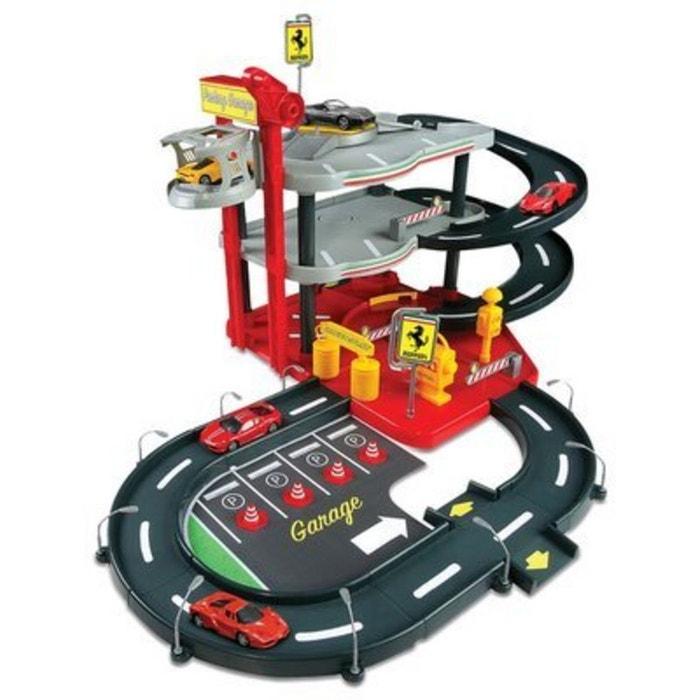 Garage avec parking Ferrari Race and Play Echelle 1/43 BBURAGO