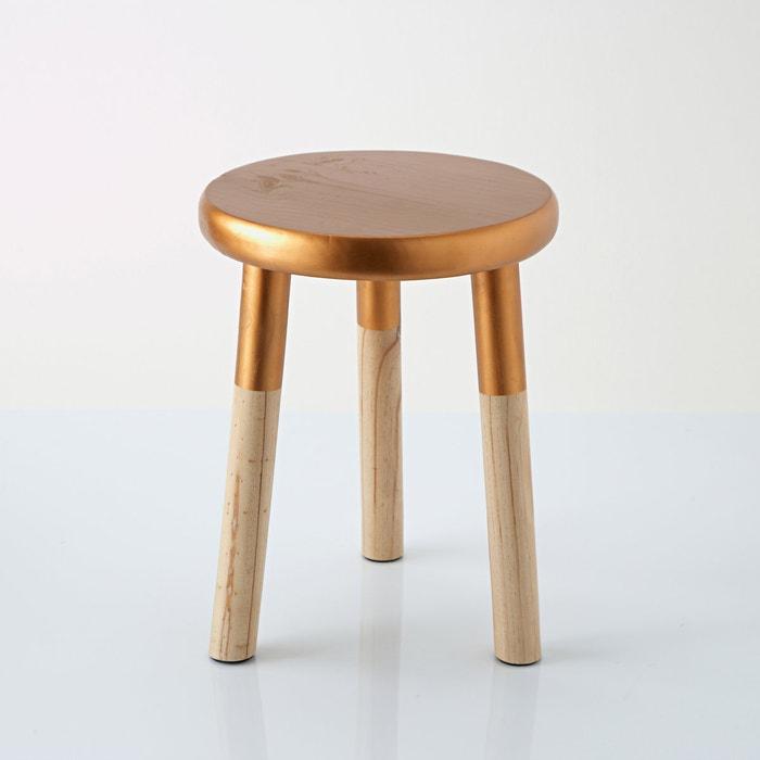 "Bild Hocker ""Elori"", Kupfer/Holz La Redoute Interieurs"