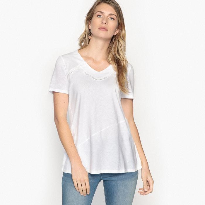 ANNE lisa cuello manga y pico Camiseta con de corta WEYBURN ZppW1Pwqv