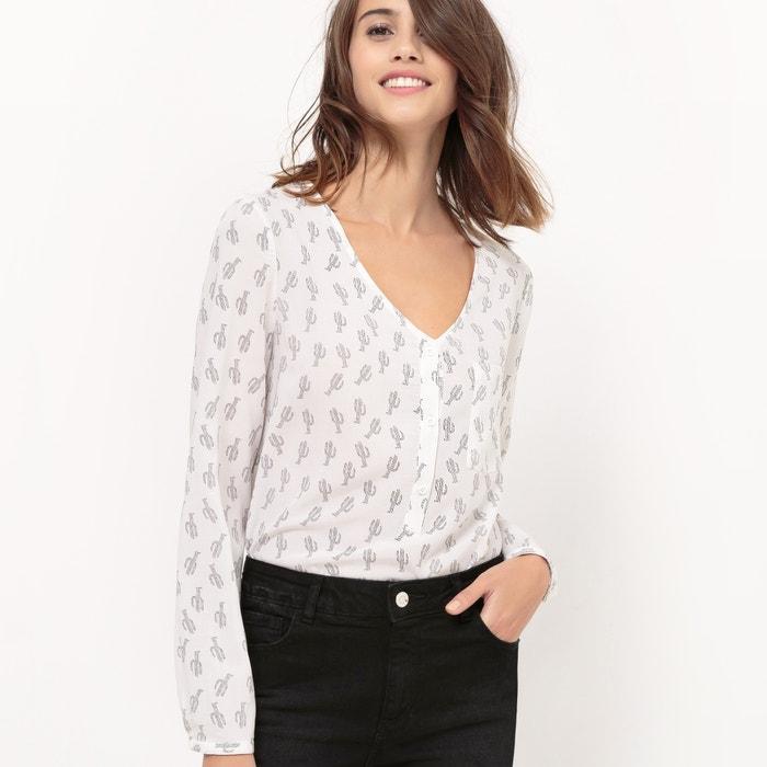 afbeelding Soepele blouse met cactus print R édition