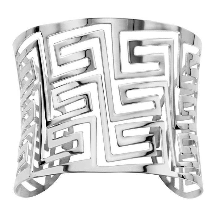 Bracelet manchette labyrinthe acier inoxydable couleur unique So Chic Bijoux | La Redoute 2018 Plus Récent À Vendre Jeu Bonne Vente Eastbay Pas Cher Vue Jeu lXNVzH0R