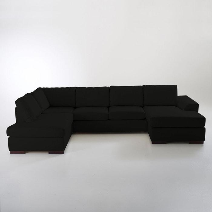 Canap d 39 angle cuir vachette portland la redoute for La redoute meuble d angle