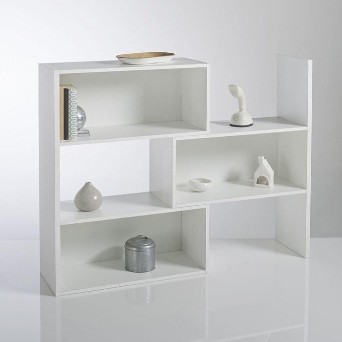 Biblioth que extensible hauteur 1 m tre everett blanc la redoute interieurs - Bibliotheque 20 cm de profondeur ...