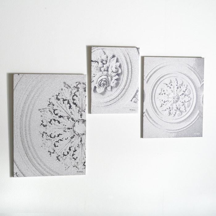 Image Toile imprimée, moulures stylisées (lot de 3) SAM BARON.