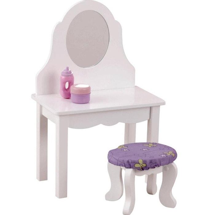 coiffeuse pour petite poup e couleur unique kidkraft la redoute. Black Bedroom Furniture Sets. Home Design Ideas