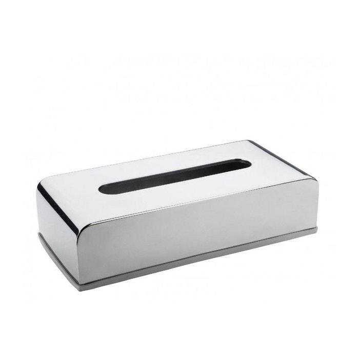 Bo te mouchoirs design en inox brillant chrome inox for Boite a couture la redoute