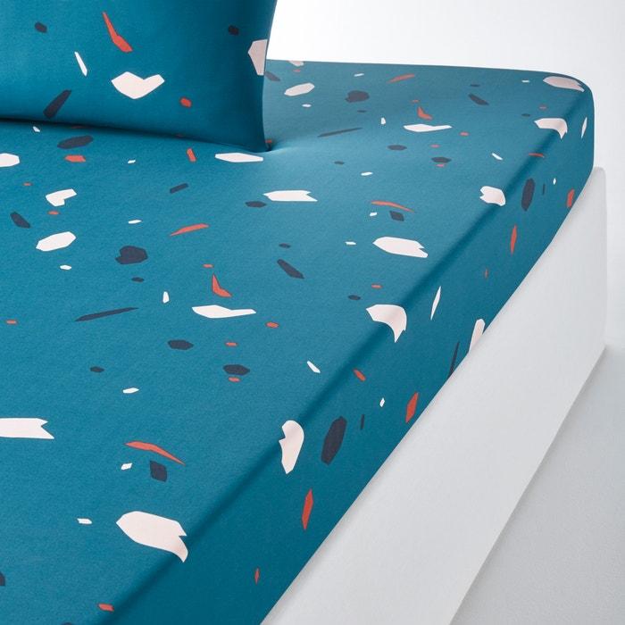 afbeelding Bedrukt hoeslaken in zuiver perkalkatoen TERRAZIERI La Redoute Interieurs