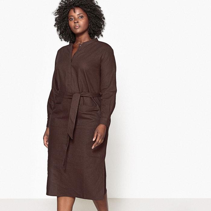 Robe en lin ceinturée à la taille  CASTALUNA image 0