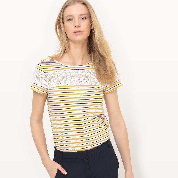 Image T-shirt rayé avec empiècement dentelle R édition