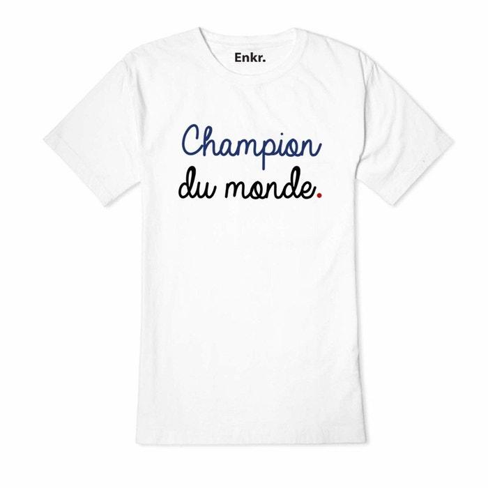 T-shirt champion du monde classique blanc Enkr   La Redoute 28ad5cd0b80c