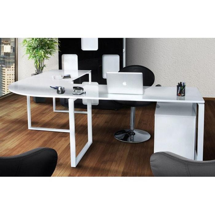 Bureau d 39 angle design blanc couleur unique kokoon design - Bureau d angle design blanc ...