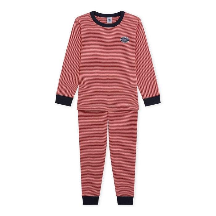 pyjama gar on milleraies rouge petit bateau la redoute. Black Bedroom Furniture Sets. Home Design Ideas