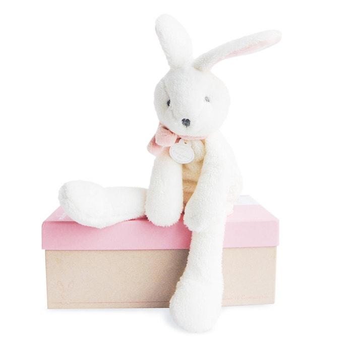 J'aime mon doudou Coniglio chic rosa 30cm - DC2910  DOUDOU ET COMPAGNIE image 0