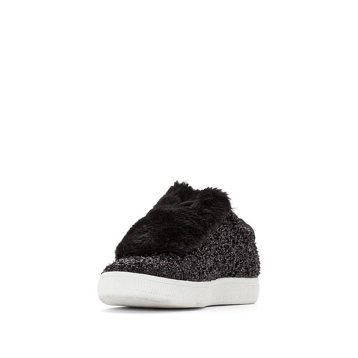 4ce97d4010d Zapatillas negras con brillantes negro La Redoute Collections